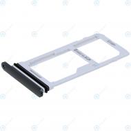 LG G7 Fit (Q850) Sim tray + MicroSD tray aurora black ABN76098101