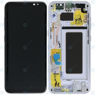 Samsung Galaxy S8 (SM-G950F) Display unit complete silver GH97-20457B