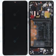 Huawei P30 Pro (VOG-L09 VOG-L29) Display module frontcover+lcd+digitizer+battery black 02352PBT