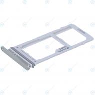 Samsung Galaxy S10 Plus (SM-975F) Sim tray + MicroSD tray prism white GH98-43724B