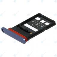 Huawei Mate 20 X (EVR-L29) Sim tray + Nano card tray midnight blue