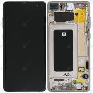 Samsung Galaxy S10 Plus (SM-975F) Display unit complete ceramic white GH82-18849J