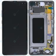 Samsung Galaxy S10 Plus (SM-975F) Display unit complete prism black GH82-18849A