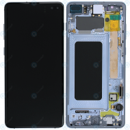 Samsung Galaxy S10 Plus (SM-975F) Display unit complete prism blue GH82-18849C