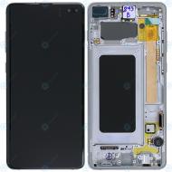 Samsung Galaxy S10 Plus (SM-975F) Display unit complete prism white GH82-18849B_image-6