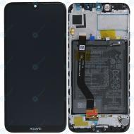 Huawei Y7 2019 (DUB-LX1) Display module frontcover+lcd+digitizer+battery midnight black 02352KCV