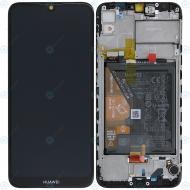Huawei Y6 2019 (MRD-LX1) Display module frontcover+lcd+digitizer+battery midnight black 02352LVM