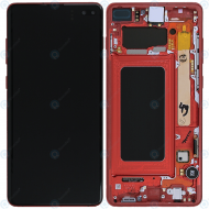 Samsung Galaxy S10 Plus (SM-G975F) Display unit complete cardinal red GH82-18849H