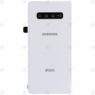 Samsung Galaxy S10 Plus Duos (SM-G975F/DS) Battery cover ceramic white GH82-18869B
