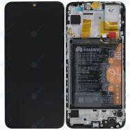 Huawei P smart 2019 (POT-L21 POT-LX1) Display module frontcover+lcd+digitizer+battery aurora blue 02352JFA