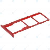 Huawei Y7 2019 (DUB-LX1) Sim tray + MicroSD tray coral red