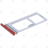 Samsung Galaxy S10 Plus (SM-G975F) Sim tray + MicroSD tray cardinal red GH98-43724H