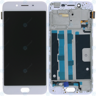 Oppo R9s Display module frontcover+lcd+digitizer white