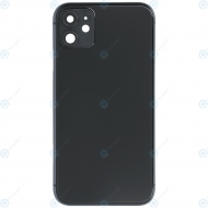 Battery cover incl. frame (without logo) black for iPhone 11