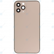 Battery cover incl. frame (without logo) matte gold for iPhone 11 Pro