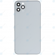 Battery cover incl. frame (without logo) matte silver for iPhone 11 Pro Max