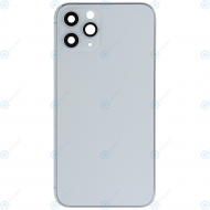 Battery cover incl. frame (without logo) matte silver for iPhone 11 Pro