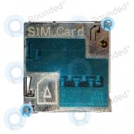 Samsung  Galaxy Note 2 N7100 Simcard reader, Simcard holder Black spare part 1236SN2S