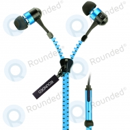 Rounded fly-zipper stereo headset natural black/blue ULTRA plus 3.5MM