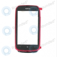 Nokia Lumia 610 front cover red (magenta)