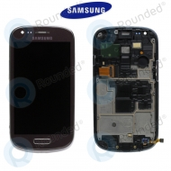 Samsung Galaxy S3 Mini (I8190) Display unit complete brown