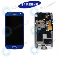 Samsung Galaxy S4 Mini (I9195) Display unit complete blue (GH97-14766C)