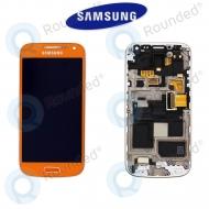 Samsung Galaxy S4 Mini (I9195) Display unit complete orange (GH97-14766H)