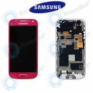 Samsung Galaxy S4 Mini (I9195) Display unit complete pink (GH97-14766G)