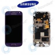 Samsung Galaxy S4 Mini (I9195) Display unit complete purple (GH97-14766E)