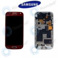 Samsung Galaxy S4 Mini (I9195) Display unit complete red (GH97-14766F)