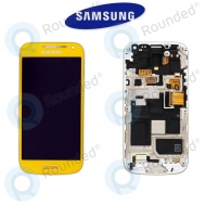 Samsung Galaxy S4 Mini (I9195) Display unit complete yellow (GH97-14766J)