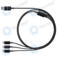 Samsung Multi charging cable 3in1 Micro USB black ET-TG900UBEGWW ET-TG900UBEGWW