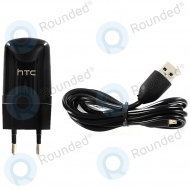 HTC USB travel charger TC E250 black incl. USB data cable 1000mAh 99H10161-01 99H10161-01