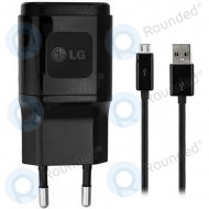 LG USB travel charger 1800mAh black incl. USB data cable MCS-04ED MCS-04ED