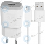 LG USB travel charger 1800mAh white incl. USB data cable MCS-04ED MCS-04ED