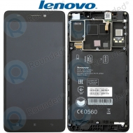 Lenovo A7000 Display module frontcover+lcd+digitizer black