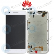 Huawei Ascend G620s Display module frontcover+lcd+digitizer white