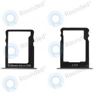 Huawei P8 Lite Sim tray + MicroSD tray white