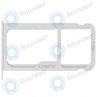 Huawei P9 Plus Sim tray + MicroSD tray white