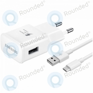 Samsung EP-TA20EWE Adaptive fast charging 2000mAh + EP-DN930CWE USB data cable type-C 1.2 meter white