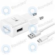 Samsung EP-TA20EWE Adaptive fast charging 2000mAh + EP-DN930CWE USB data cable type-C 1.2 meter white