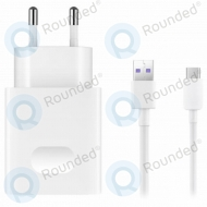 Huawei SuperCharge travel charger HW-050450E00 5A with USB data cable typ-C white