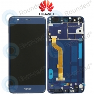 Huawei Honor 8 Display module frontcover+lcd+digitizer blue 02350USK