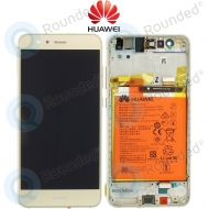 Huawei P10 Lite Display module frontcover+lcd+digitizer + battery gold 02351FSN 02351FSN