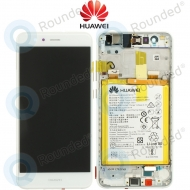 Huawei P10 Lite Display module frontcover+lcd+digitizer + battery white 02351FSC 02351FSC