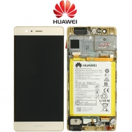 Huawei P9 Display module frontcover+lcd+digitizer + Battery gold 02350SHB 02350SHB