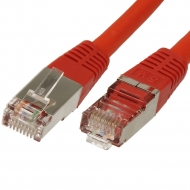 FTP CAT6 network cable 0.5 meter Type: S/FTP CAT6. Wires: AWG 27/7. Connector 1: RJ45 Male. Connector 2: RJ45 Male. Length: 0.5 meter. Color: Red. Halogen free: Yes.