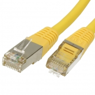 FTP CAT6 network cable 2 meter Type: S/FTP CAT6. Wires: AWG 27/7. Connector 1: RJ45 Male. Connector 2: RJ45 Male. Length: 2 meter. Color: Yellow. Halogen free: Yes.