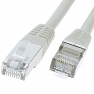 UTP CAT5e network cable 10 meter Type: F/UTP CAT5e. Wires: AWG 26. Connector 1: RJ45 Male. Connector 2: RJ45 Male. Length: 10 meter. Color: Grey. Halogen free: no.