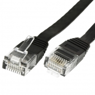 UTP CAT6 network cable 10 meter Type: U/UTP CAT6. Connector 1: RJ45 Male. Connector 2: RJ45 Male. Length: 10 meter. Color: Black. Halogen free: No. Extra: Slim flat cable.